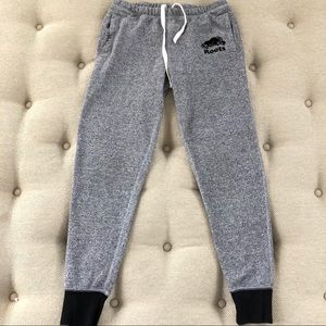 Roots French Terry Jogger Sweatpants Grey XS